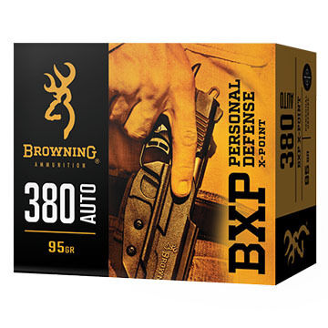 Browning BXP Personal Defense 380 Auto 95 Grain X-Point JHP Handgun Ammo (20)