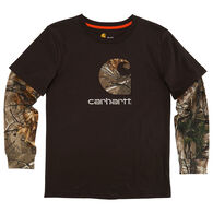 Carhartt Boys' Big C Layered Long-Sleeve T-Shirt