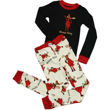 Lazy One Boys & Girls Almoose Asleep PJ Set