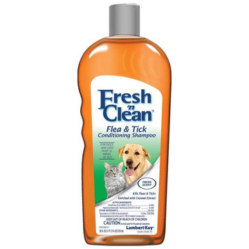 Lambert Kay Fresh n Clean Flea & Tick Dog Conditioning Shampoo - 18 oz.
