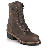"Chippewa Men's 9"" Steel Toe Super Logger Waterproof - 400g. Insulated Safety Work Boot"