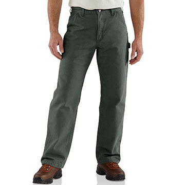 Carhartt Mens 12 oz Cotton Duck Washed Work Pant