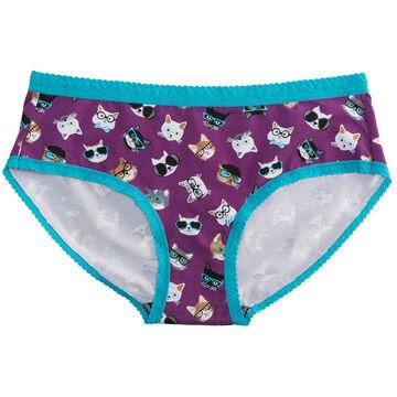 Sock It To Me Womens Smarty Cats Bikini Brief