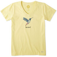 Life is Good Women's Hummingbird Crusher Vee Short-Sleeve T-Shirt