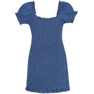 Derek Heart Women's Denim Smock Dress