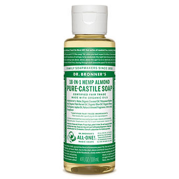 Dr. Bronner's Almond Pure-Castile Liquid Soap - 4 oz.
