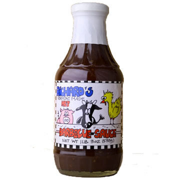 Richard's Hot Barbeque Sauce, 19 oz.