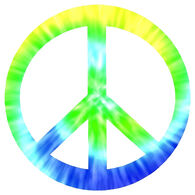 Sticker Cabana Peace Sign Sticker