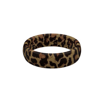 Groove Life Womens Aspire Leopard Thin Silicone Ring