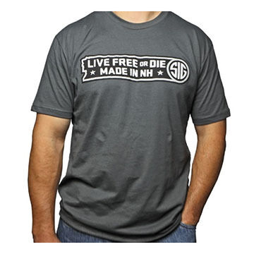 SIG Sauer Mens Live Free or Die Short-Sleeve T-Shirt