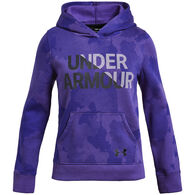 Under Armour Girls' UA Rival Fleece Wordmark Hoodie
