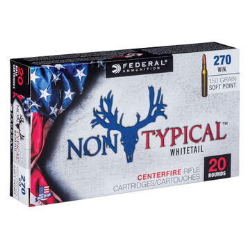 Federal Non-Typical 270 Winchester 150 Grain Soft Point Rifle Ammo (20)