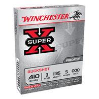 "Winchester Super-X 410 GA 3"" 5 Pellet #000 Buckshot Ammo (5)"