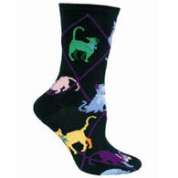 Wheel House Designs Colorful Cat Sock