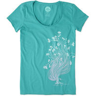 Life is Good Women's Garden Pose Smooth Short-Sleeve T-Shirt
