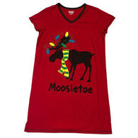 Lazy One Women's Mooseltoe Fitted Sleep T-Shirt