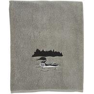 Park Designs Grey Area Loon Bath Towel