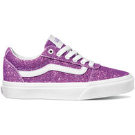 Vans Girls' Ward Glitter Textile Sneakers