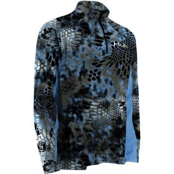Huk Mens Kryptek Icon 1/4 Zip Mock Neck Long-Sleeve Fishing Shirt