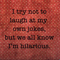 Paisley & Parsley Designs Try Not To Laugh At My Jokes Marble Tiles Coaster