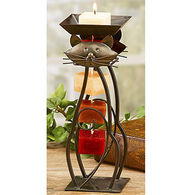 DECO FLAIR Cat Candle On A Rope Candle Holder