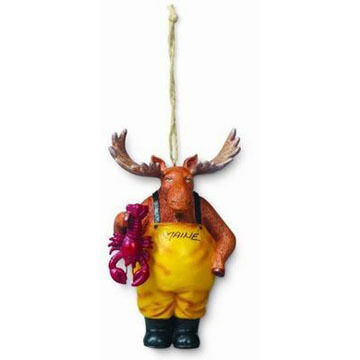 Cape Shore Resin Moose with Lobster Ornament
