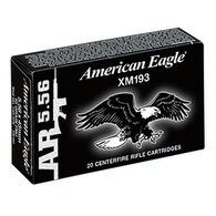 American Eagle 5.56x45mm 55 Grain FMJ BT Rifle Ammo (500)