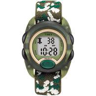 Timex Children's Digital Elastic Fabric Strap Watch