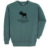 Original Design Men's Kittery Trading Post Black Moose Crew-Neck Sweatshirt
