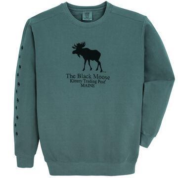 Original Design Mens Kittery Trading Post Black Moose Crew-Neck Sweatshirt