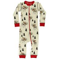 Lazy One Infant Moosletoe Patterned Union Suit