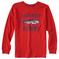 Carhartt Boys' Outfish Them All Long-Sleeve T-Shirt