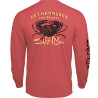 Salt Life Men's Get Hammered Pocket Long-Sleeve T-Shirt