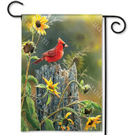 BreezeArt Cardinal View Decorative Garden Flag