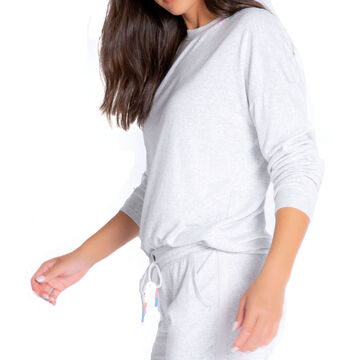 P.J. Salvage Womens Colorful Classics Overdyed Sleep Sweatshirt