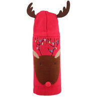 The Worthy Dog Rudy Reindeer Hoodie Dog Sweater