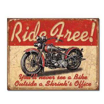 Desperate Enterprises Ride Free Tin Sign