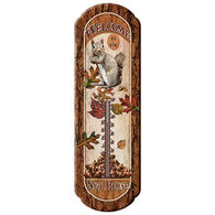 Rivers Edge Welcome to the Nut House Tin Thermometer