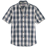Carhartt Men's Big & Tall Essential Plaid Button-Down Short-Sleeve Shirt