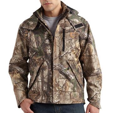 Carhartt Mens Big & Tall Camo Shoreline Jacket