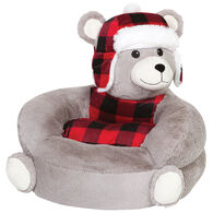 Trend Lab Children's Plush Buffalo Check Bear Character Chair