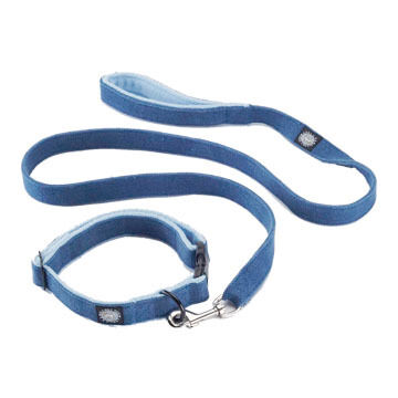 Planet Dog Fleece-Lined Handle Hemp Dog Leash