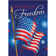 Carson Home Accents Glittertrends Celebrate Freedom Garden Flag