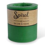 Spiral Light Small Candle - Balsam & Cedar
