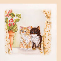 Quilling Card Two Cats Everyday Card