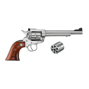 Ruger Single-Six Satin Finish Convertible 22 LR / 22 WMR 6.5 6-Round Revolver
