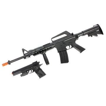 Palco Sports Colt M4 On-Duty Spring-Powered Airsoft Rifle & Pistol Package
