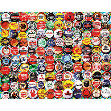 White Mountain Jigsaw Puzzle - Beer Bottle Caps