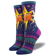 Socksmith Design Women's Laurel Birch Sun and Moon Crew Sock
