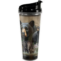 American Expedition Black Bear Collage Tall Acrylic Tumbler